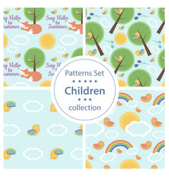 summer-pattern vector image
