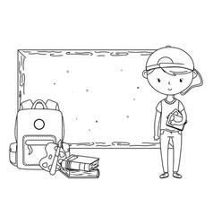 teenager boy cartoon design vector image
