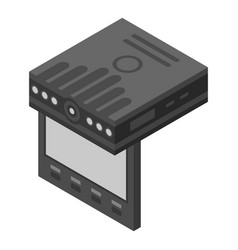 Traffic dvr icon isometric style vector