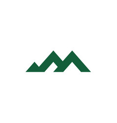 Triangle geometric line mountain range symbol vector