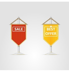 two pennons for sale vector image