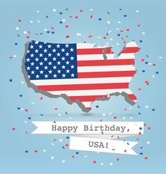 USA greetings postcard vector image