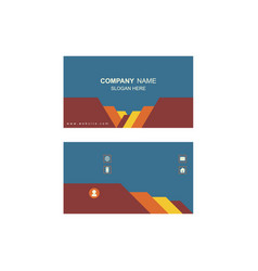 Visiting cards design vector