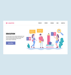 Web site gradient design template school vector