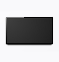 wide realistic 4k tv screen modern smart vector image
