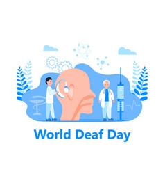 World deaf day in last sunday september vector