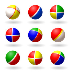 ball for children set of multi-colored bright vector image vector image