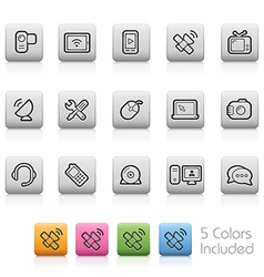 Communications Icons vector image vector image