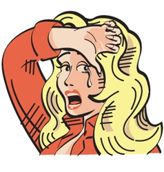 Crying cowgirl vector image