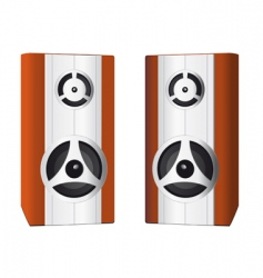 two speakers for your computer vector image