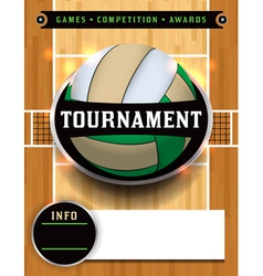 Volleyball Tournament Flyer vector image