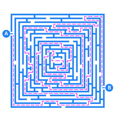 brain game labyrinth maze with entry exit vector image