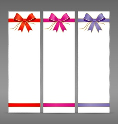 Collections colorful ribbon vector image vector image