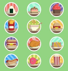 Food Menu Flat Icon vector image vector image
