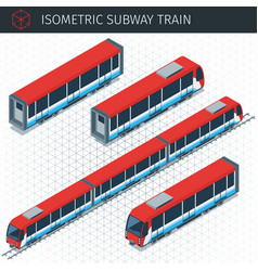 isometric subway train vector image vector image
