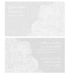 paisley lace business card vector image