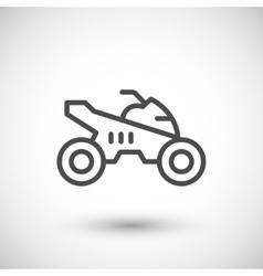 Quad bike line icon vector image vector image