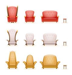 armchair throne sofa couch chair fairytale cartoon vector image vector image
