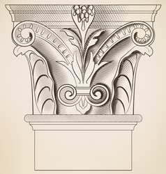 engraving column vector image vector image