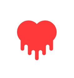 red bleeding heart icon vector image