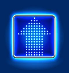 Arrow neon icon vector image vector image