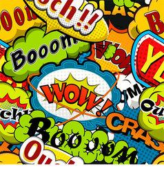 Bright and multicolored Comics Speech Bubbles Seam vector image vector image
