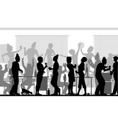 Office party vector image