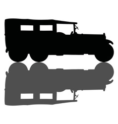 Vintage military covered vehicle vector