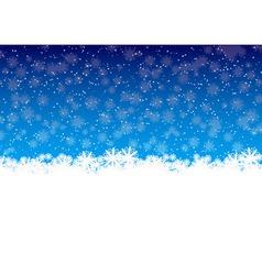 winter snowflakes vector image vector image