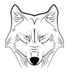 Wolf tattoo ink sketch vector image vector image