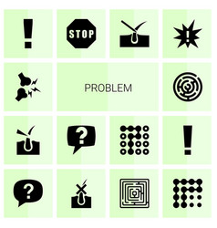 14 problem icons vector