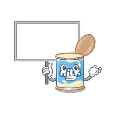 A cute picture condensed milk cute cartoon vector