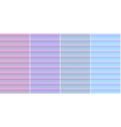 a set of horizontal stripes backgrounds in pink vector image