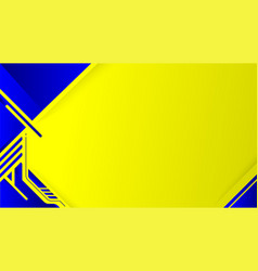 abstract modern graphic yellow and blue background vector image