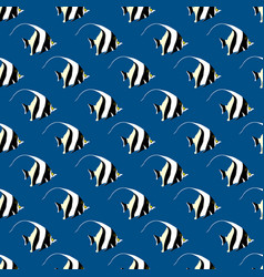 abstract seamless pattern with fish vector image