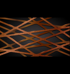 abstract waves patterned in brown lines vector image