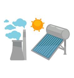 alternative eco energy devices set on white vector image