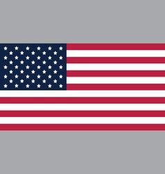 America flag standard proportion color mode RGB vector