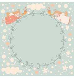 Angels wreath vector