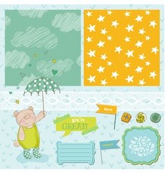 Baby Bear Shower Theme vector