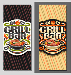 banners for grill bar vector image