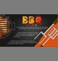 Bbq party background graphic greeting card or vector
