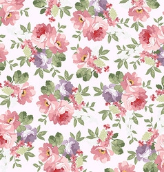 Beautiful floral patternred roses vector image