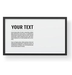 Black modern frame horizontal mockup place for vector