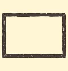 Brown Frame Sketch vector image