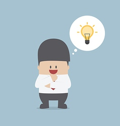Businessman thinking and have a great idea vector