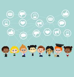 Children social media vector