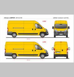 Citroen jumper cargo van l3h2 and l4h2 2014-2019 vector