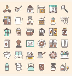 Coffee brew equipment for coffee shop vector