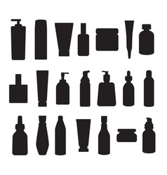 containers and packages black silhouettes vector image